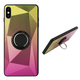 BackCover Ring Aurora voor Apple iPhone X/Xs Goud+Roze