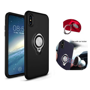 BackCover Ring voor Apple iPhone X/Xs Zwart