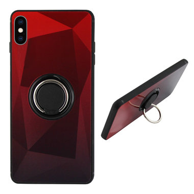 BackCover Ring Aurora voor Apple iPhone X/Xs Rood+Zwart