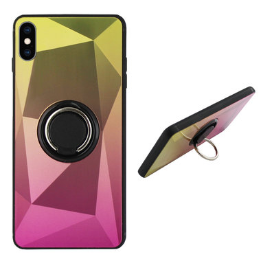 BackCover Ring Aurora voor Apple iPhone XR Goud+Roze