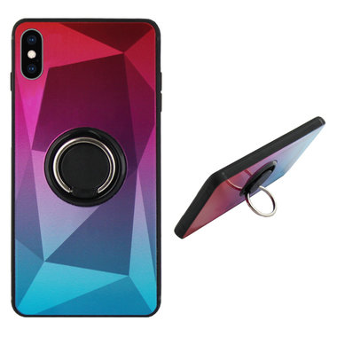 BackCover Ring Aurora voor Apple iPhone XR Roze+blue