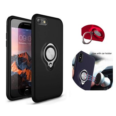 BackCover Ring voor Apple iPhone 7/8 Plus Zwart