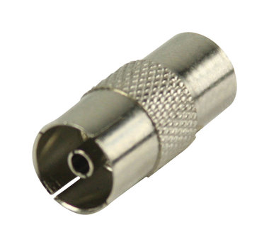 Coax koppeling coax mannelijk - coax vrouwelijk metaal