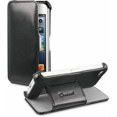 Muvit Folio Stand Case Zwart voor Apple iPhone 5/5S