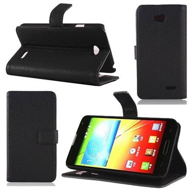 Huawei G620S Wallet Book Case Zwart