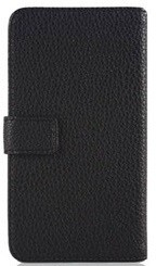 ALCATEL C3 Wallet Book Case Zwart