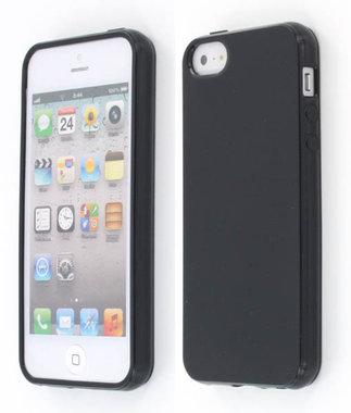 iphone 5 TPU CASE ZWART+ gratis folie