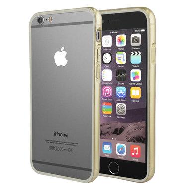 Hoesje Bumper Color voor iPhone 6 Plus Goud+Grijs