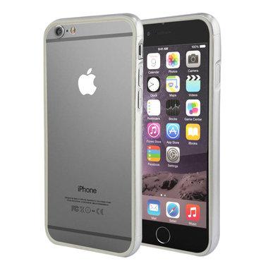 Hoesje Bumper Color voor iPhone 6 Plus Zilver+Grijs