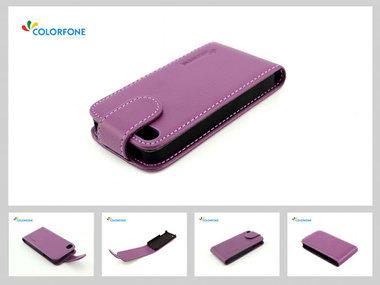iphone 4, 4S paars  Flip case