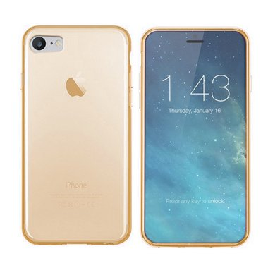 Apple iPhone 7/7S Tr. Goud hoesje