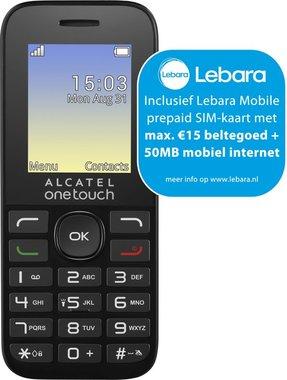 ALCATEL 10.16 Dualsim Zwart + Lebara-simkaart
