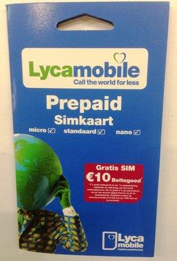 Gratis Lyca Simkaart 2 stuks