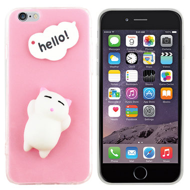 BackCover Squishy iPhone 6 Plus Roze