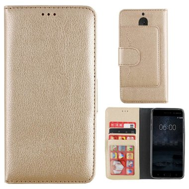 Wallet Case Nokia 6 Gold
