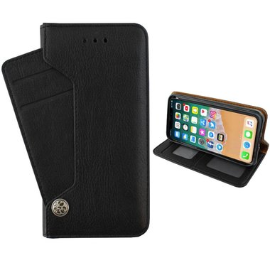 Deluxe Wallet Case voor Apple iPhone Xs MAX Zwart