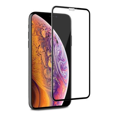Tempered Glass 2.5D iPhone XS MAX Transparant Zwart