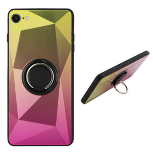 BackCover Ring Aurora voor Apple iPhone 7/8 Goud+Roze