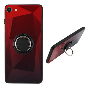 BackCover Ring Aurora voor Apple iPhone 7/8 Plus Rood+Zwart