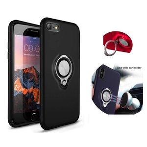 BackCover Ring voor Apple iPhone 7/8 Plus Zwart