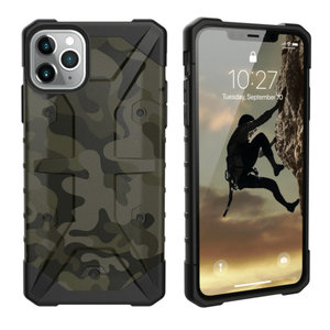 Backcover Shockproof Army voor Apple iPhone 11 Pro Max (6.5) Zwart
